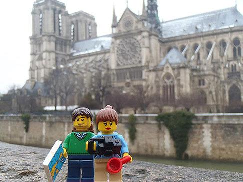 "Craig says the idea began in Paris in 2013 when he gave Lindsay a pair of Lego figurines that resembled them for her 30th birthday. ""The next day we took pictures of the Lego with Paris in the background and we joked about creating a Facebook page."""