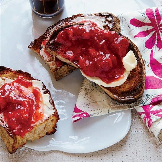 """<p>Made with instant pectin, this gingery strawberry jam from F&W's Justin Chapple is amazingly fresh-tasting. Instead of canning the jam in hot water, store it in a freezer to maintain its just-picked flavor.</p><p><a href=""""https://www.foodandwine.com/recipes/no-cook-strawberry-jam"""">GO TO RECIPE</a></p>"""