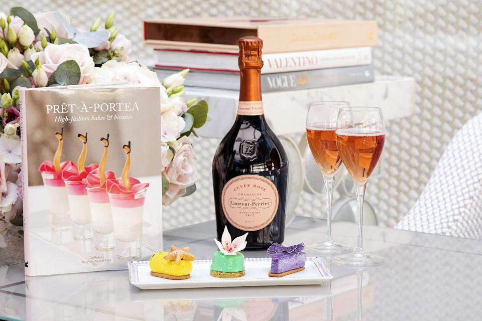 """<p>Did someone say cake and champagne? Laurent-Perrier and The Berkeley have teamed up to offer a very chic afternoon out inspired by the hotel's legendary fashion afternoon tea Prêt-à-Portea. For spring/summer 2021 sweet treats will look like Valentino gowns, Isabel Marant separates and Versace's ocean-inspired new-season pieces, all ready be washed down with Laurent-Perrier's much-admired Cuvée Rosé. As part of Taste of London in Regent's Park, ticket-holders will be treated to masterclasses with The Berkeley's executive Pastry chef, Mourad Khiat, who will share his culinary secrets.</p><p><a href=""""https://london.tastefestivals.com/things-to-do/laurent-perrier-pret-a-portea-experience/"""" rel=""""nofollow noopener"""" target=""""_blank"""" data-ylk=""""slk:Prêt-à-Portea"""" class=""""link rapid-noclick-resp"""">Prêt-à-Portea </a>will be featured at Taste of London from 7 - 11 July 2021</p>"""