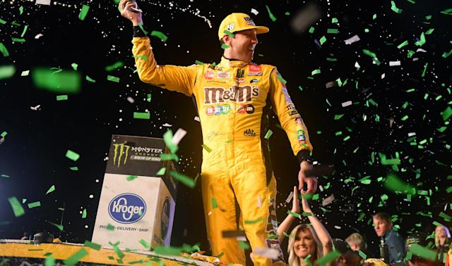 Joe Gibbs Racing driver Kyle Busch added the 2019 crown to his 2015 NASCAR title.