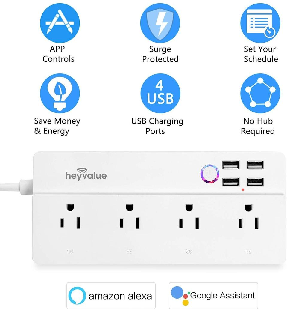 <p>Control all the plugs in your home, even when you're not there, with this <span>Smart Power Strip, Wifi Surge Protector</span> ($24). You can sync lights, devices, and more to a timer or manually turn them on or off from your smartphone.</p>