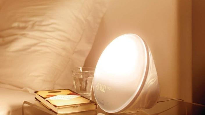 This light therapy lamp and natural sunrise alarm clock can help make wake ups gentler for guests.