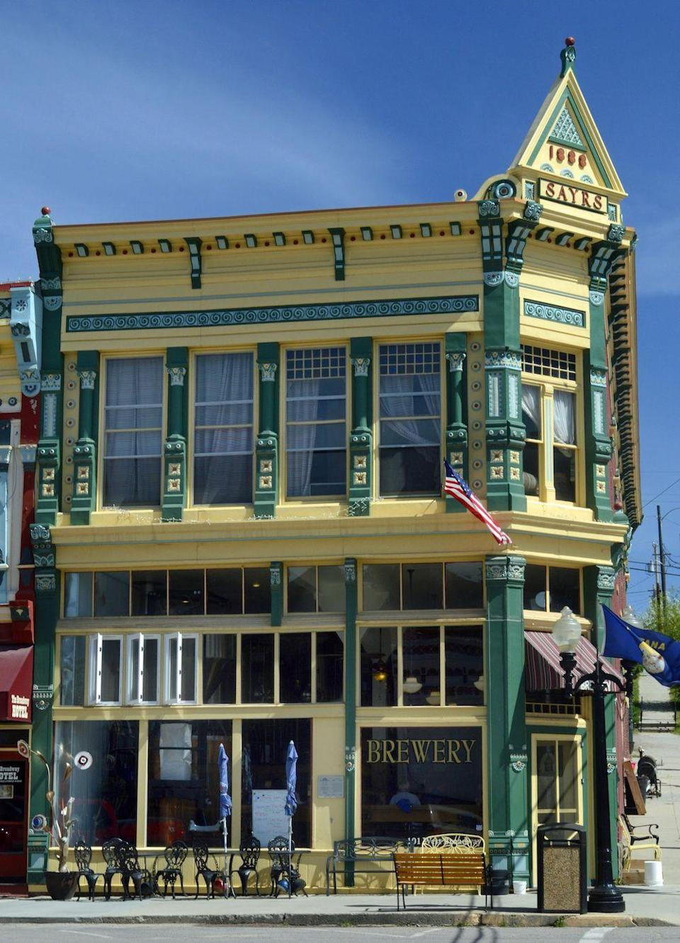 """<p>In the 19th century, Philipsburg was a thriving mining town. Today, it's a place where you can find treasures of the antique variety. (Okay, you can also <a href=""""http://www.visitphilipsburg.com/"""" rel=""""nofollow noopener"""" target=""""_blank"""" data-ylk=""""slk:pan for sapphires"""" class=""""link rapid-noclick-resp"""">pan for sapphires</a> here, too.) If all that searching has you parched, there's no better way to quench your thirst than at the <a href=""""http://www.visitphilipsburg.com/about-philipsburg/breweries-distilleries.php"""" rel=""""nofollow noopener"""" target=""""_blank"""" data-ylk=""""slk:Philipsburg Brewing Company"""" class=""""link rapid-noclick-resp"""">Philipsburg Brewing Company</a>, housed in the historic Sayers building.</p><p><a href=""""https://www.housebeautiful.com/design-inspiration/real-estate/a4224/affordable-montana-mansion-house-tour/"""" rel=""""nofollow noopener"""" target=""""_blank"""" data-ylk=""""slk:Check out a surprisingly affordable Montana mansion »"""" class=""""link rapid-noclick-resp""""><em>Check out a surprisingly affordable Montana mansion »</em></a></p>"""