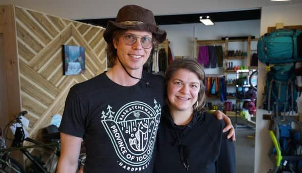 Matthew Johnson and Nancy Broten are behind Life Outside, an outdoors equipment consignment store in Saskatoon, Sask.