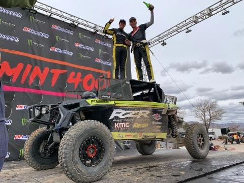 Polaris RZR® Factory Racing Captures Two UTV Titles at the Iconic Mint 400