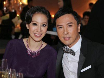 Donnie Yen with gracious, Wife Cissy Wang
