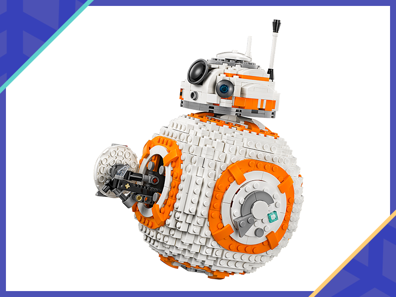 A Lego version of the iconic BB-8 droid for that lovable Star Wars aficionado. (Photo: Walmart)