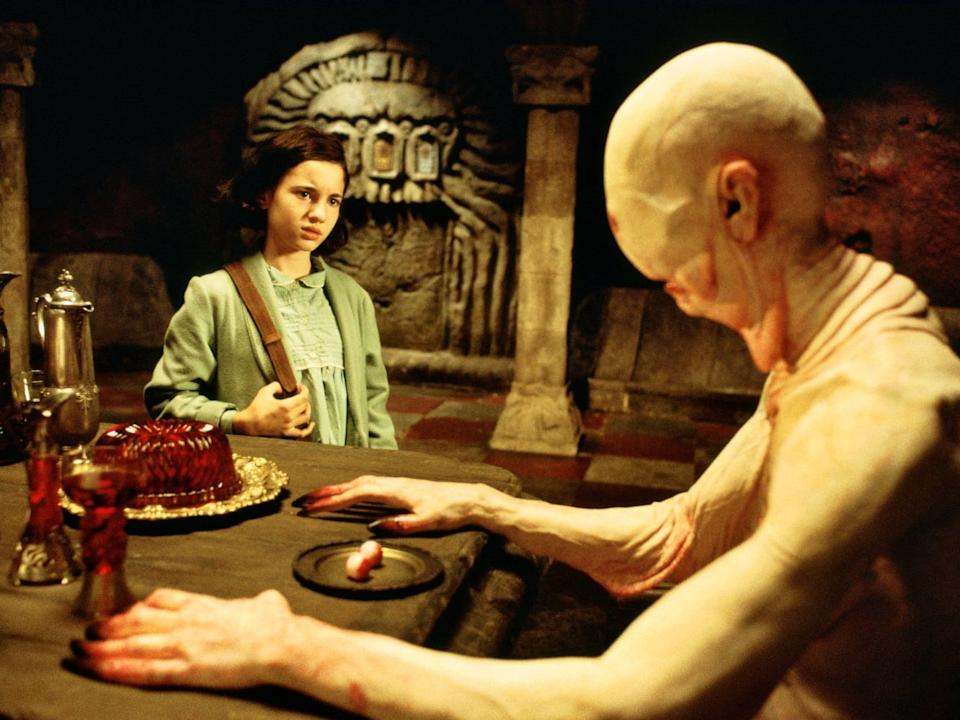 "Ivana Baquero and Doug Jones appear in ""Pan's Labyrinth."""