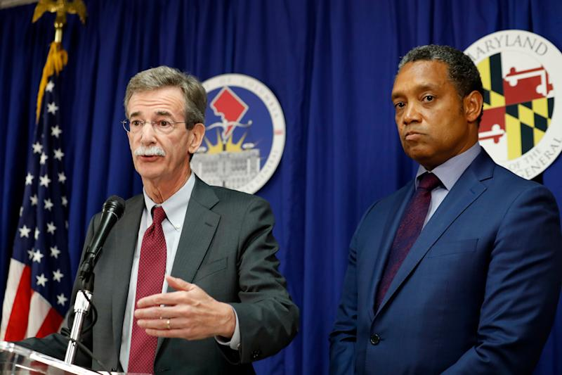 Maryland Attorney General Brian Frosh and District of Columbia Attorney General Karl Racine are among those challenging President Trump's profits from foreign and domestic government officials who use Trump Organization properties.