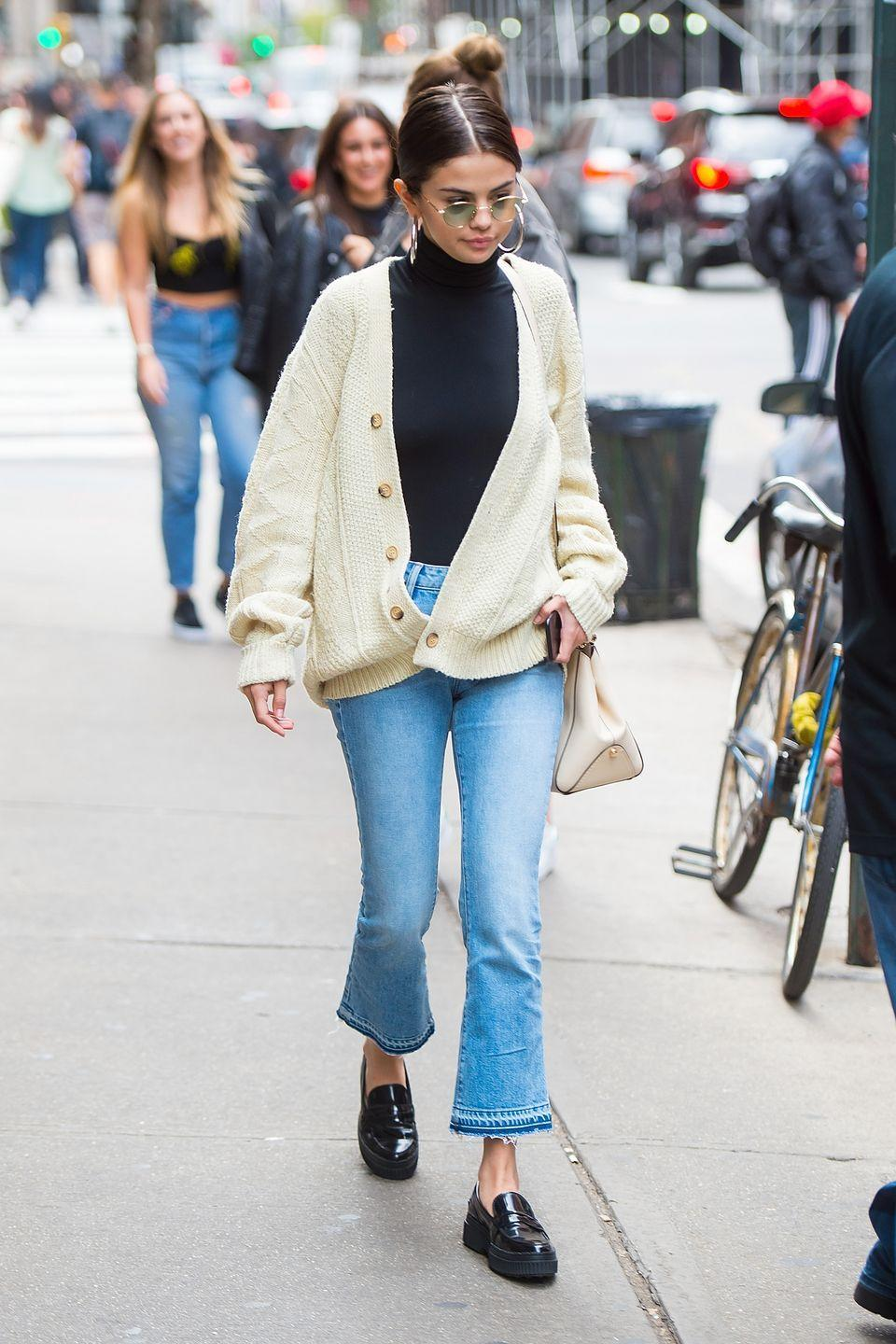 """<p>My last-minute outfit secret: throw on all your favorite pieces and go. Pair up your comfiest turtleneck with your favorite jeans and top with the oversized cardigan you live in on the weekends. Done! </p><p><strong>What you'll need: </strong><em>Openwork Knit Cardigan, $80, Mango</em></p><p><a class=""""link rapid-noclick-resp"""" href=""""https://go.redirectingat.com?id=74968X1596630&url=https%3A%2F%2Fshop.mango.com%2Fus%2Fwomen%2Fcardigans-and-sweaters-cardigans%2Fopenwork-knit-cardigan_77025912.html&sref=https%3A%2F%2Fwww.seventeen.com%2Ffashion%2Fstyle-advice%2Fg25727522%2Fcasual-outfits%2F"""" rel=""""nofollow noopener"""" target=""""_blank"""" data-ylk=""""slk:SHOP HERE"""">SHOP HERE</a></p>"""