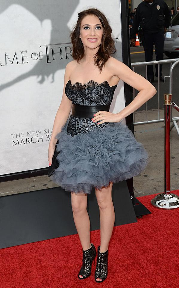 "Carice van Houten arrives at the premiere of HBO's ""Game of Thrones"" Season 3 at TCL Chinese Theatre on March 18, 2013 in Hollywood, California."