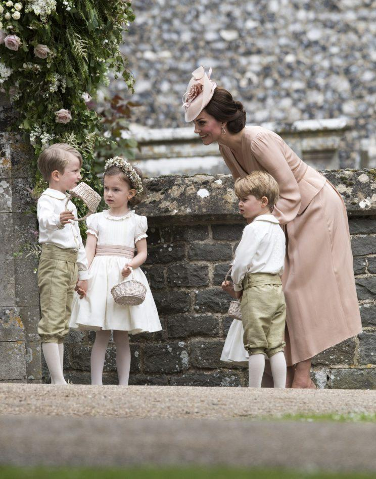 The Duchess of Cambridge was in charge of the pre-school bridal party [Photo: PA]