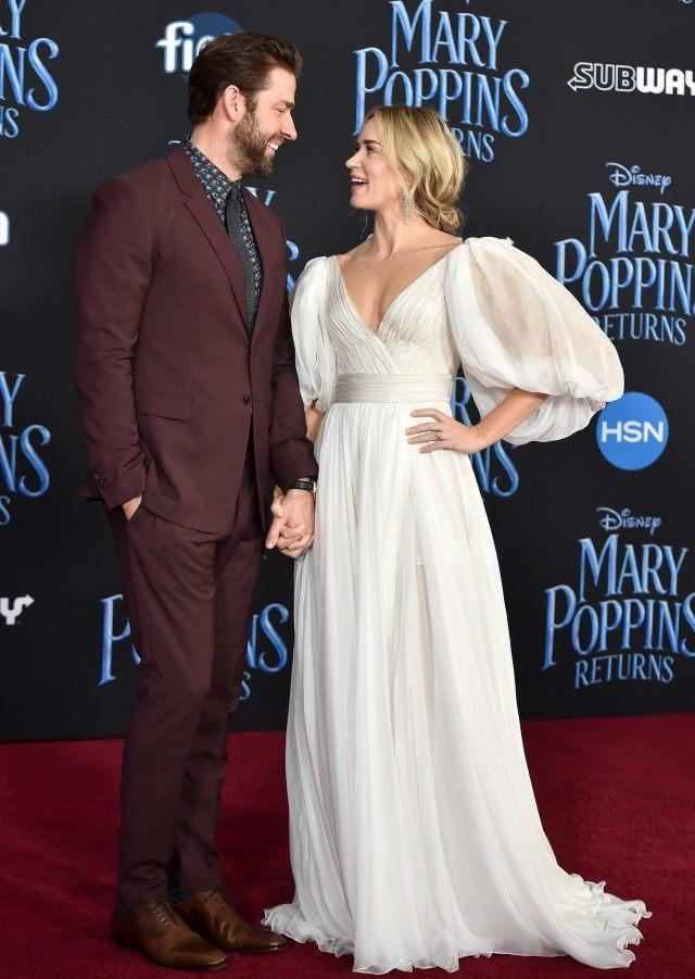 John Krasinski and Emily Blunt at Mary Poppins premiere