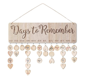 "<span class=""caption"">ElekFX Gift Reminder Calendar Plaque Wooden Wall Hanging with 100 Slices</span> <span class=""credit"">Amazon</span>"