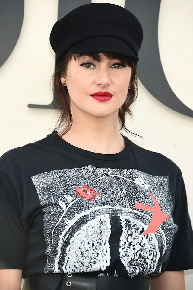 "<p><strong>Who:</strong> Shailene Woodley</p><p><strong></strong><strong>What: </strong>Red Lipstick</p><p><strong>How: </strong>Shailene Woodley was a guest at the Dior Spring/Summer 2019 show in Paris this morning wearing a super-chic red lipstick. The <em>Big Little Lies </em>star was likely wearing a Dior lipstick (of course)-if we had to guess, we'd pick the new Rouge Dior Ultra Rouge Pigmented Hydra Lipstick. It's a long-wear formula with a semi-matte finish, and it comes in six-plus red shades.</p><p><strong>Editor's Pick: Dior </strong>Rouge Dior Ultra Rouge Pigmented Hydra Lipstick in Ultra Feminine, $31,65, <a rel=""nofollow"" href=""https://shop.nordstrom.com/s/dior-rouge-dior-ultra-rouge-pigmented-hydra-lipstick/5044549?origin=category-personalizedsort&breadcrumb=Home%2FBrands%2FDior%2FDior%20Makeup&color=777%20ultra%20star"">nordstrom.com</a>.</p><p><a rel=""nofollow"" href=""https://shop.nordstrom.com/s/dior-rouge-dior-ultra-rouge-pigmented-hydra-lipstick/5044549?origin=category-personalizedsort&breadcrumb=Home%2FBrands%2FDior%2FDior%20Makeup&color=777%20ultra%20star"">SHOP</a></p>"
