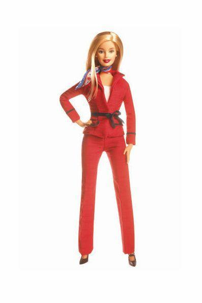 <p>Barbie's 2004 turn as Presidential Candidate sees her opt for a bright pantsuit instead of the skirt suit she wore in 2000. </p>
