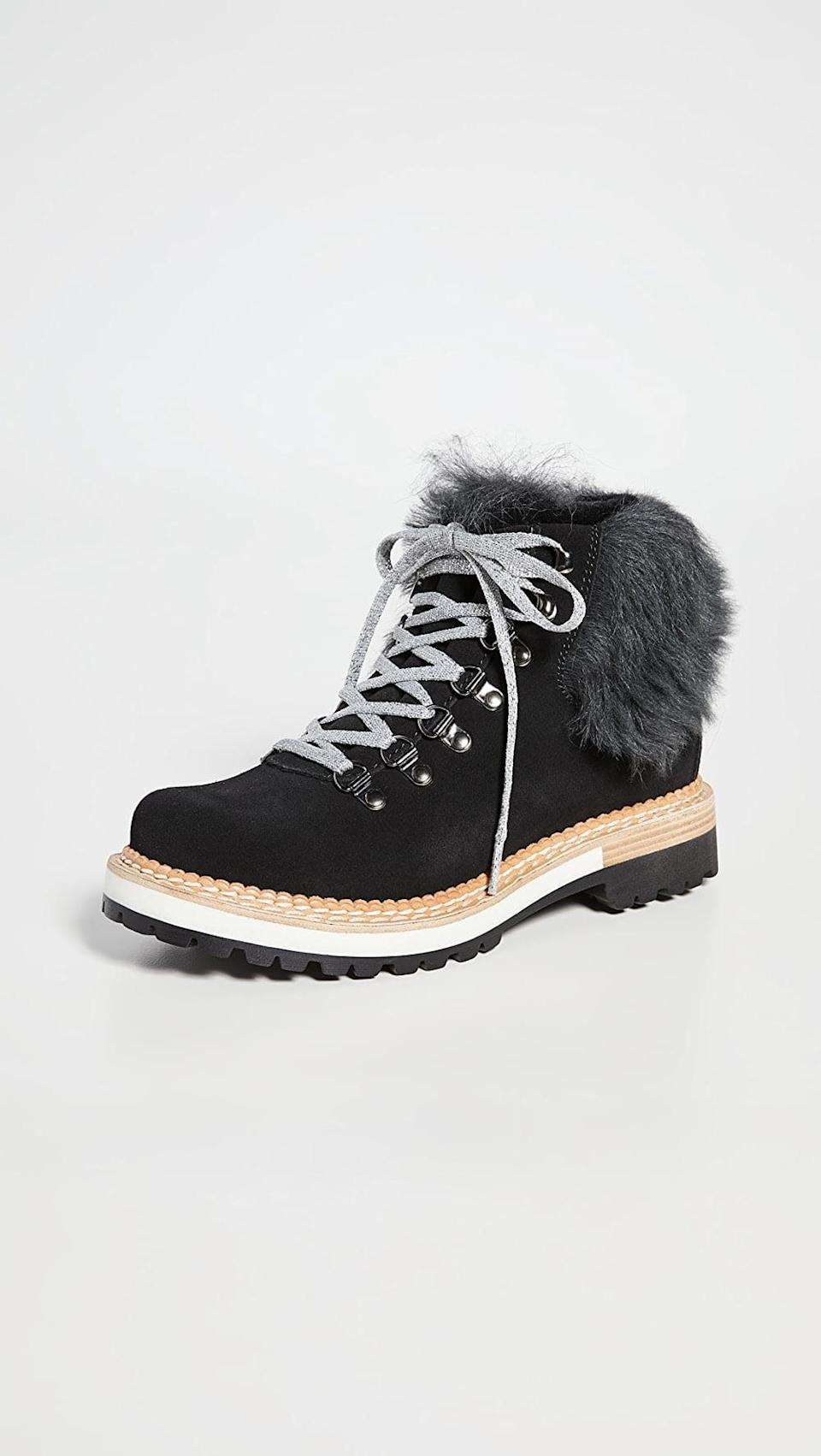 <p>These <span>Montelliana Clara Shearling Lined Boots</span> ($550) will keep you warm all winter. Frankly, we'd brave the snow if it meant we could wear these.</p>