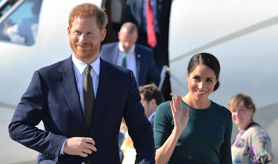 The Duke and Duchess of Sussex landed in Dublin this evening ahead of their two-day tour [Photo: PA]