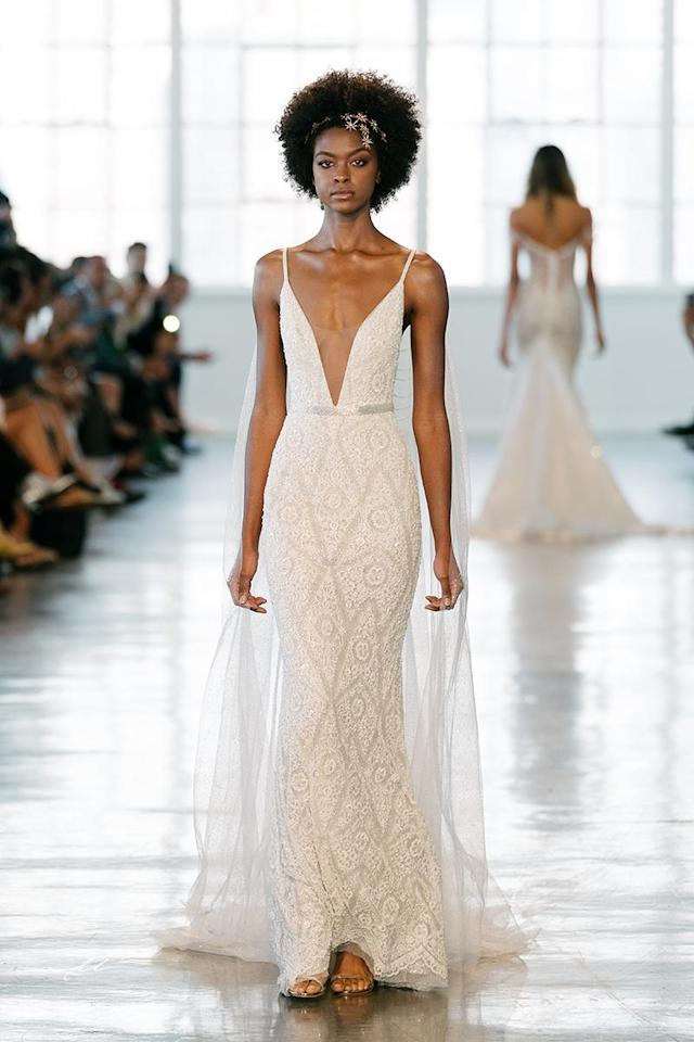 <p>Beaded gown with plunging neckline. (Photo: Mike Colon) </p>