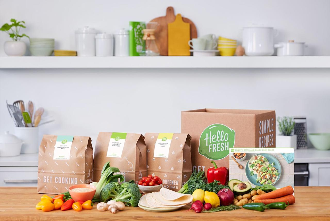 """<p>What makes <a rel=""""nofollow"""" href=""""https://www.hellofresh.com/"""">Hello Fresh</a> unique is that it offers a vegetarian meal plan for folks who don't eat meat. The company is also committed to using responsibly-sourced ingredients. </p><p>To use, first choose from the veggie, classic, or family plans, which all come with two or three recipes per week and start at $7.99 per serving. Still skeptical? Purchase a <a rel=""""nofollow"""" href=""""http://fortune.com/2018/06/04/hellofresh-grocery-stores/"""">Hello Fresh meal kit in select grocery stores</a> for your first go-around.</p><p><a rel=""""nofollow"""" href=""""https://www.hellofresh.com/"""">SUBSCRIBE NOW</a></p>"""