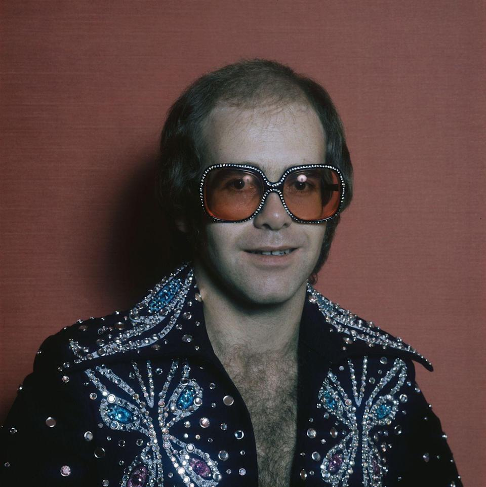 "<p>In a rhinestone jacket and matching ""Butterfly"" jacket circa 1975.</p>"