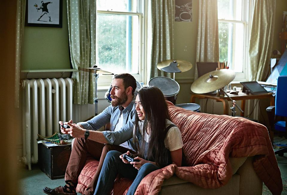 <p>Chances are someone has access to a nostalgic video game like Mario Kart, Zelda, Nintendogs . . . etc. If not, give a new video game a try! If you're open to it, you might just find gaming to be one of your best date nights yet. </p>