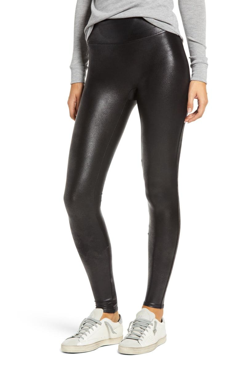 Spanx Faux Leather Leggings are a hit among shoppers. Image via Nordstrom.