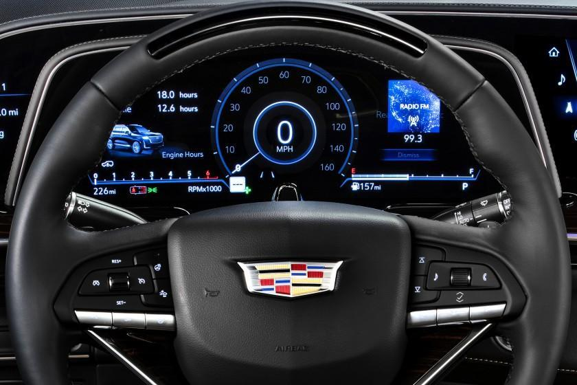 The 2021 Cadillac Escalade showcases the first curved OLED in the industry