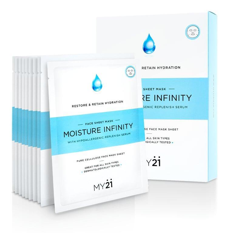 "<p>This <a href=""https://www.popsugar.com/buy/Moisture-Infinity-One-Week-Discovery-System-Sheet-Mask-Set-540487?p_name=Moisture%20Infinity%20One%20Week%20Discovery%20System%20Sheet%20Mask%20Set&retailer=my21mask.com&pid=540487&price=8&evar1=bella%3Aus&evar9=47111925&evar98=https%3A%2F%2Fwww.popsugar.com%2Fbeauty%2Fphoto-gallery%2F47111925%2Fimage%2F47111929%2FMoisture-Infinity-One-Week-Discovery-System-Sheet-Mask-Set&list1=beauty%20products%2Cbeauty%20shopping&prop13=mobile&pdata=1"" rel=""nofollow noopener"" class=""link rapid-noclick-resp"" target=""_blank"" data-ylk=""slk:Moisture Infinity One Week Discovery System Sheet Mask Set"">Moisture Infinity One Week Discovery System Sheet Mask Set</a> ($8) will likely come in handy at the end of the night.</p>"