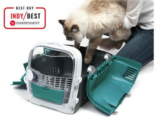 For cats that need coaxing into their carrier, this unfolds to help them in gently (The Independent)
