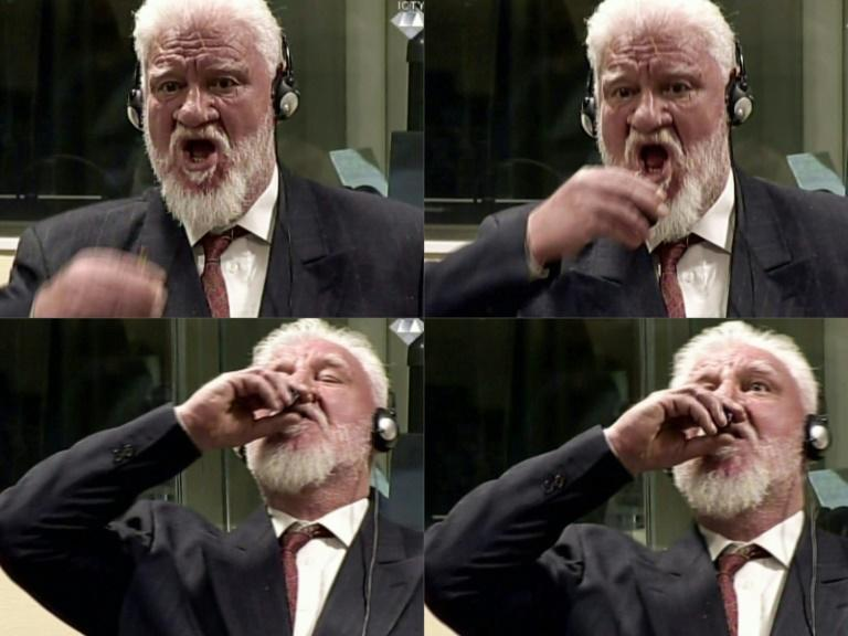 Croatian former general Slobodan Praljak swallowed potassium cyanide during a UN court hearing where his 20-year jail term for war crimes in Bosnia was upheld
