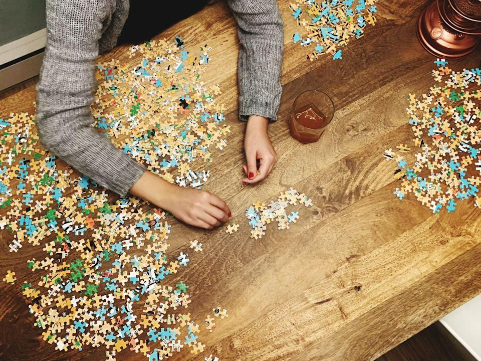 """<p>When you need to decompress from the holiday hustle and bustle, there's no better way to relax your shoulders than by putting together a relaxing jigsaw puzzle. Settle in with a cup of eggnog, and before you know it, it'll be dinner time!</p><p><a class=""""link rapid-noclick-resp"""" href=""""https://www.amazon.com/Bits-Pieces-Creature-Stiring-Christmas/dp/B015VMT9LW?tag=syn-yahoo-20&ascsubtag=%5Bartid%7C10055.g.29777938%5Bsrc%7Cyahoo-us"""" rel=""""nofollow noopener"""" target=""""_blank"""" data-ylk=""""slk:SHOP HOLIDAY PUZZLES"""">SHOP HOLIDAY PUZZLES</a></p>"""