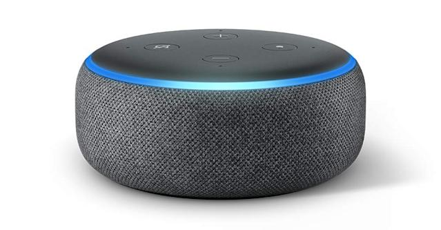The Echo Dot has a 4.6 out of 5 star review rating with over 57,200 reviews. (Photo: Amazon)