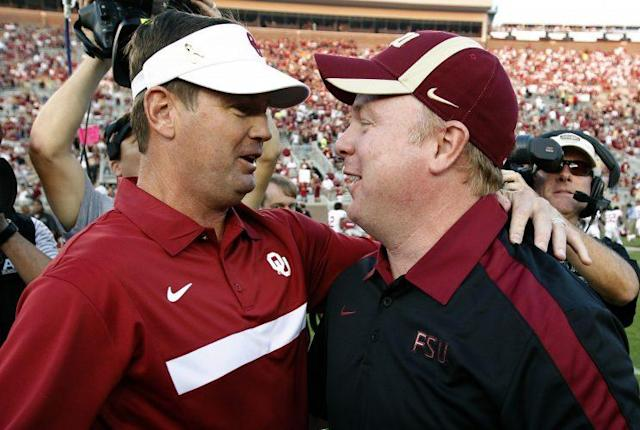 Mark Stoops was shocked by his brother's decision to retire as Oklahoma head coach. (AP)