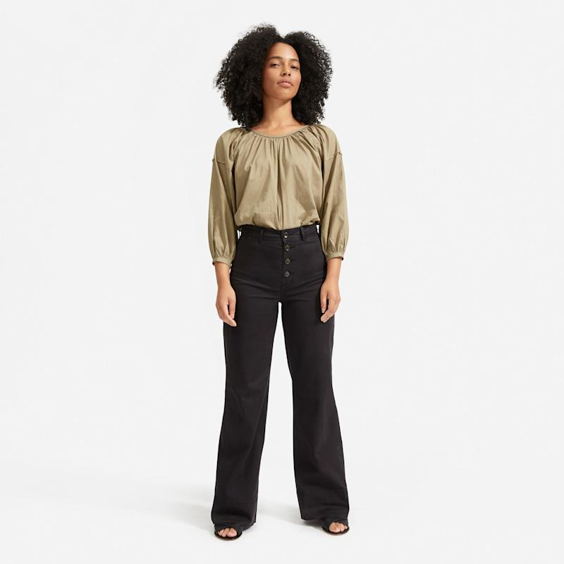 The Lightweight Button-Fly Wide Leg Chino