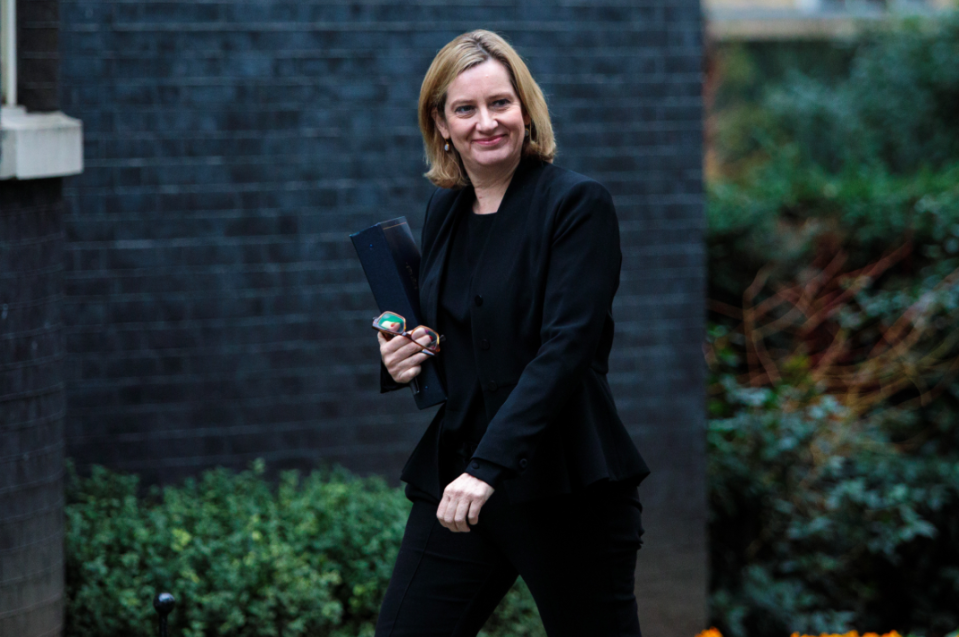 <em>Amber Rudd has left the door open for the two Brits to be tried in the UK (Getty)</em>
