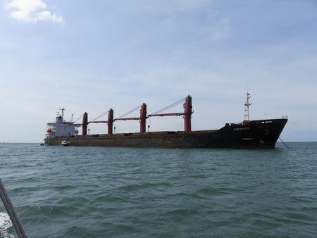 An undated image provided in a U.S. Department of Justice complaint for forfeiture shows what is described as the North Korean vessel Wise Honest