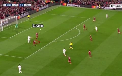 Lovren caught out
