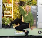 <p>Karlie Kloss poses for a photoshoot for her collaboration with Adidas on June 8 in N.Y.C.</p>