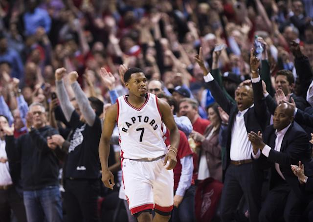 After a quiet Game 1, Kyle Lowry answered the call in Game 2. (AP)