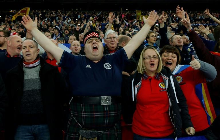 Scotland fans hope to cheer a Euro 2020 win against England