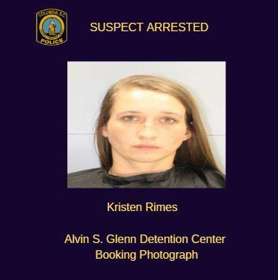 A South Carolina woman named Kristen Michelle Rimes was arrested for lying to police about an alleged attack by a black man. (Photo: Alvin S. Glenn Detention Center)
