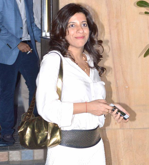 Zoya Akhtar arrives for the bash