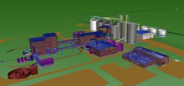 An illustration shows the planned canola processing facility in Regina.