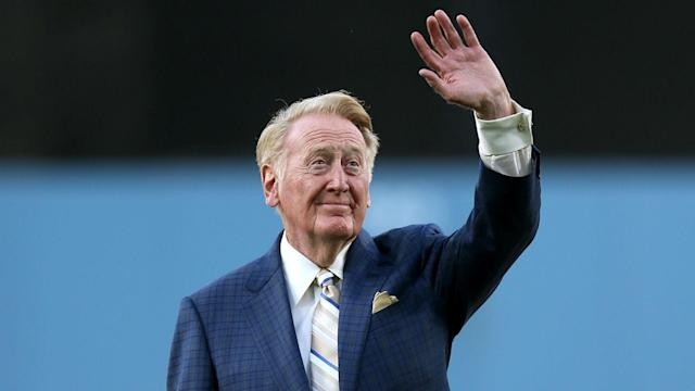 Scully, who turns 90 next month, spent 67 seasons as the voice of the Dodgers before retiring at the end of last season.