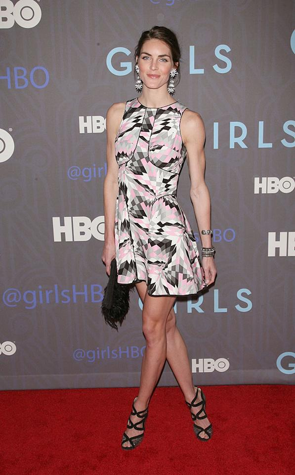 "Hilary Rhoda attends HBO's premiere of ""Girls"" Season 2 at the NYU Skirball Center on January 9, 2013 in New York City."