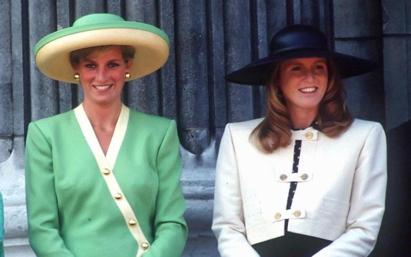 Diana, Princess of Wales, and Sarah, Duchess of York in 1990 - UK Press