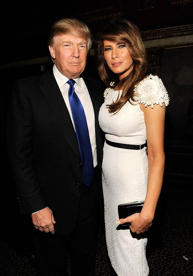 Even the all-business Donald Trump has to let loose sometime! The Donald hit up the bash with his wife Melania. (October 18, 2011)