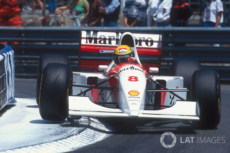 "Ayrton Senna, McLaren MP4/8 Ford<span class=""copyright"">Motorsport Images</span>"