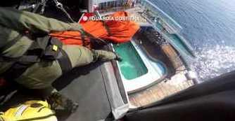 "<p>The Italian Coast Guard hoisted a sick passenger from a cruise ship upon their helicopter near the island of Capri on Wednesday, April 12.</p><p>The Austrian passenger was suspected to have suffered a stroke aboard the Albatros cruise ship, operated by the German company Phoenix Reisen. The ship was travelling from Giardini-Naxos, Sicily, to Genoa, according to cruise tracking website <a href=""http://www.cruisemapper.com/ships/Albatros-672"" target=""_blank"">CruiseMapper</a>.</p> <p>The Coast Guard said the passenger was sent to Ospedale Antonio Cardarelli hospital in Naples and was conscious and in ""reasonable"" health. Credit: Guardia Costiera via Storyful</p>"
